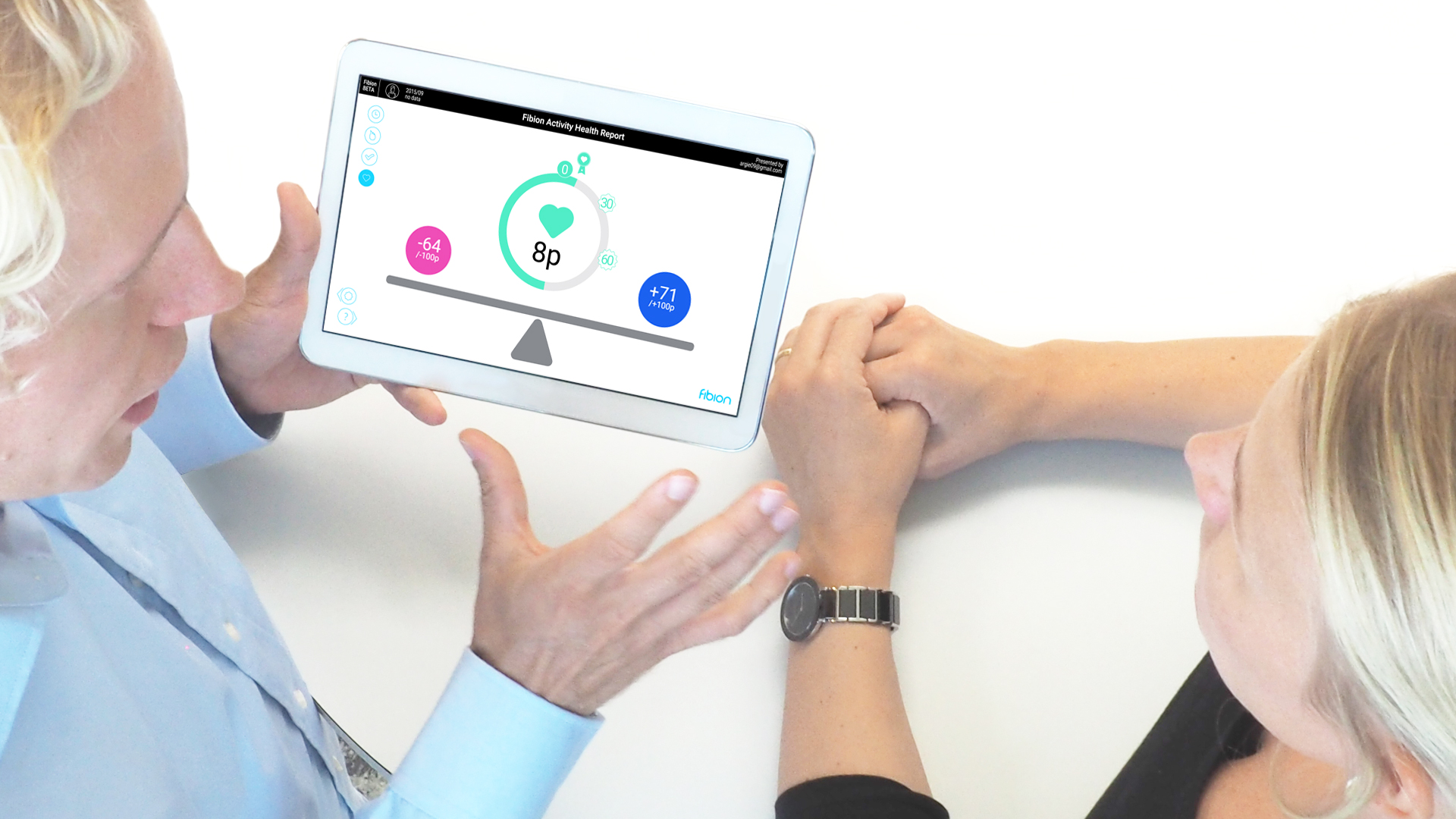 Presenting-Activity-Health-Report-from-tablet