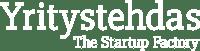 yritystehdas_the_startup_factory_logo_valkoinen