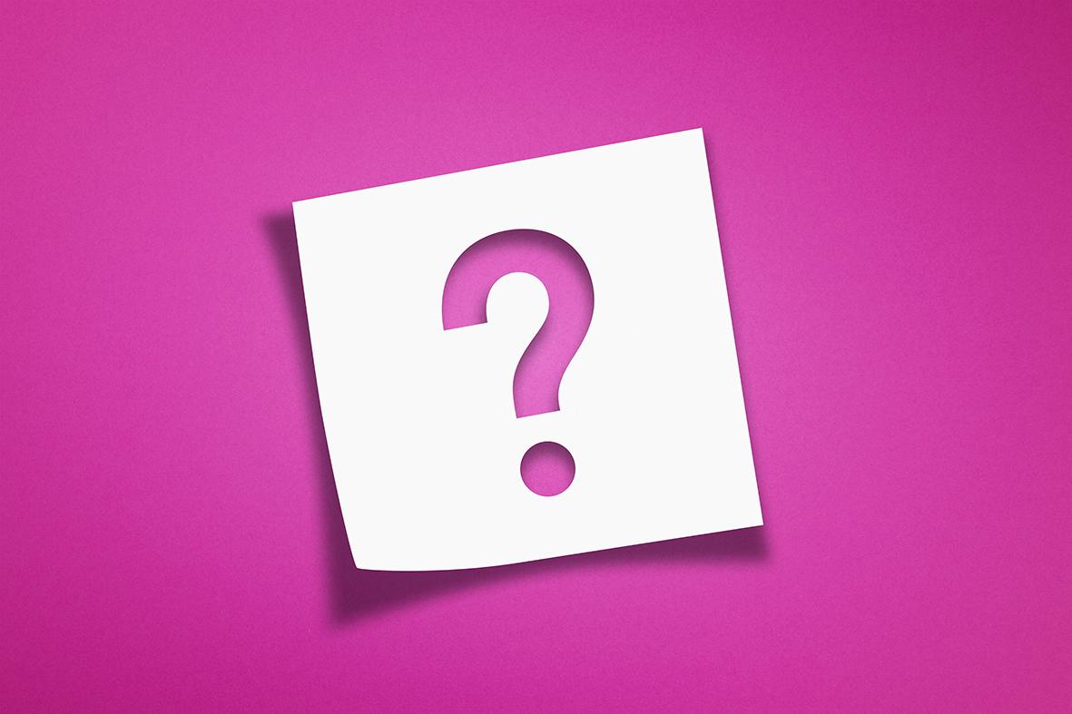 pinkki-kysymysmerkki